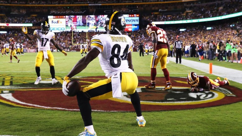 Antonio Brown 2017 NFL regular season most receiving yards prop bets