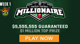 DraftKings NFL Million Dollar Winning Lineups - 2017 millionaire maker