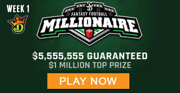 DraftKings NFL Million Dollar Winning Lineups - 2017 millionaire maker
